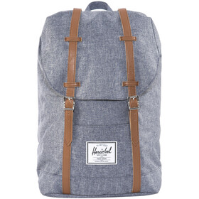 Herschel Retreat Backpack Dark Chambray Crosshatch/Tan